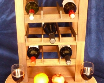Oak Stacking Wine Rack