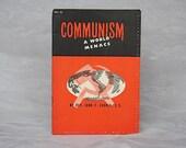 Anti Communist Propaganda - Vintage Catholic Pamphlet - Atheism - Communism A World Menace National Catholic Welfare Conference John Cronin