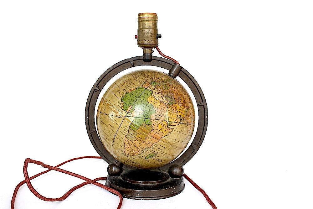vintage globe light world globe lamp fixture globe light. Black Bedroom Furniture Sets. Home Design Ideas