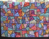 King Size Stain Glass Window Quilt