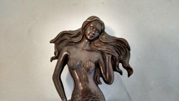 Vintage solid brass mermaid and wave door by magpieshoardvintage - Mermaid door knocker ...