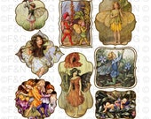 Cicely Mary Barker Flower Fairies - Digital TAGS/Labels, Digital Graphics, Craft, Scrapbooking, Cards - Pack 2