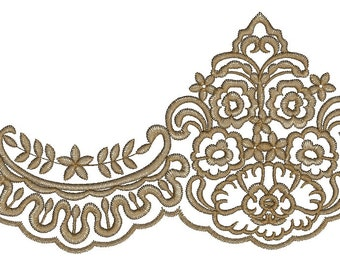 floral festoon embroidery , Border Embroidery Pattern Machine Embroidery designs