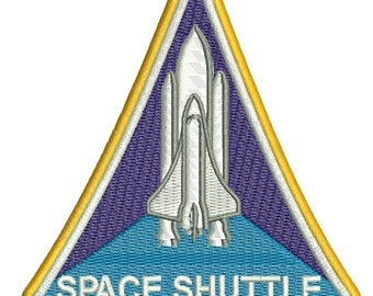 Nasa space shuttle - Machine Embroidery Design