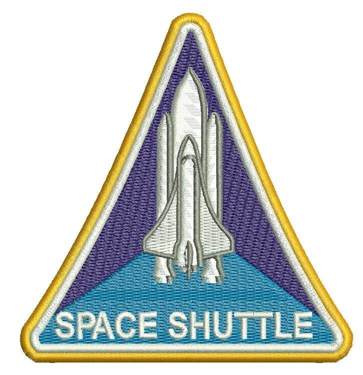 Nasa Space Shuttle Machine Embroidery Design