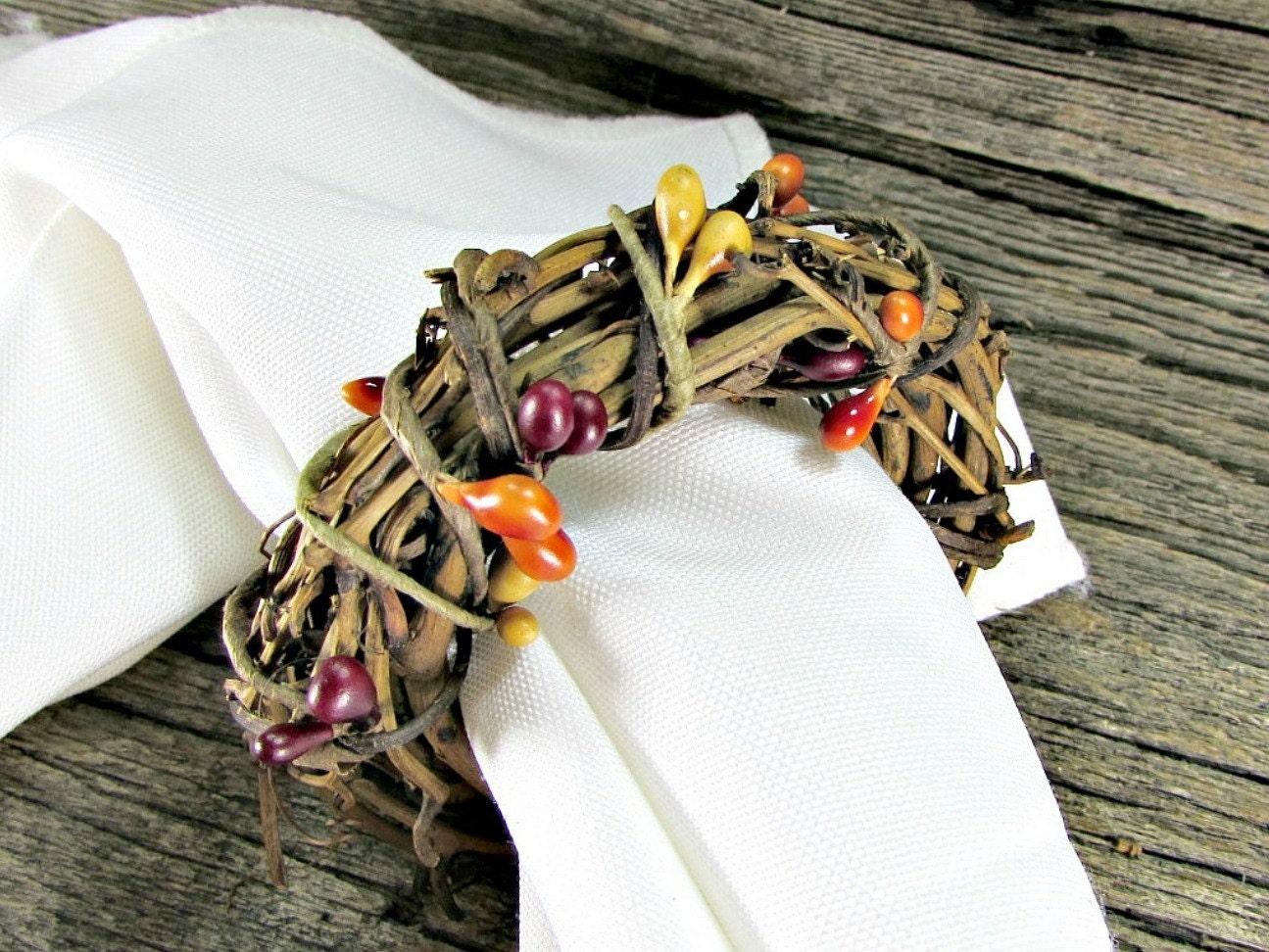 Thanksgiving napkin rings pip berry napkin ring by for Napkin rings for thanksgiving