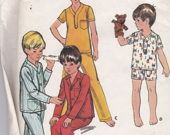 Butterick 5737 Vintage Pattern Boys Pajamas in Variations Size 6 UNCUT