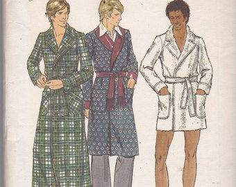 Butterick 6904 Vintage Pattern Mens Robe In 3 Lengths Size 38 Uncut