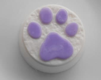 Purple Paw Print Soap - Handmade Glycerin Soap - Choose Your Scent