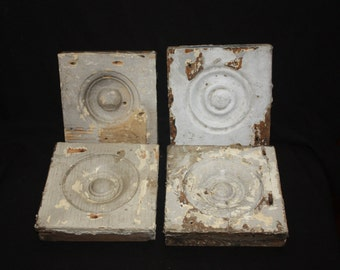 Antique Victorian Plinth Wood Blocks Architectural Salvage Mid to Late 1800s