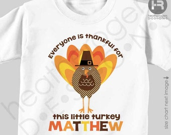 Personalized Thanksgiving Outfit - babys first thanksgiving outfit - Everyone is Thankful for Me Shirt or Bodysuit