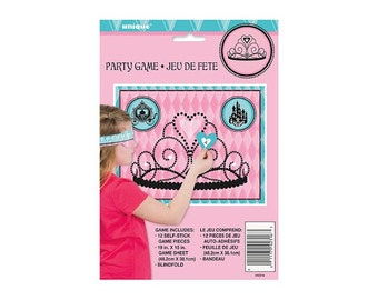 Princess Party Game - Pin the heart on the crown