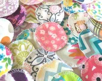 Reusable Cotton Rounds, 30 Random Prints/Patterns, Washable Makeup Remover Pads, Facial Rounds, Cotton Balls, Toner Pads, Facial Poufs