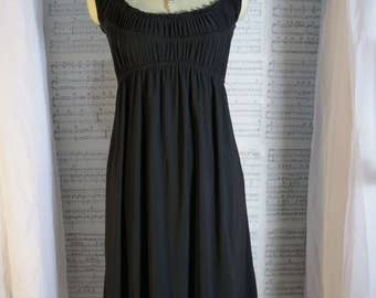 Black dress - Gothic dress - Vampire clothing - Empire Waist Dress - All black - Goth