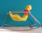 Vintage Duck Rocking Horse Toy, Design by Brevetto Star Italy, 1960s