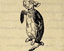 Alice in Wonderland Mock Turtle Image Digital Graphic Download Illustration Printable Artwork Jpg Png Eps  HQ 300dpi No.1858