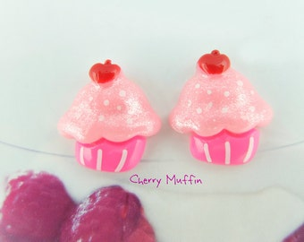 Cupcake clip-on earrings