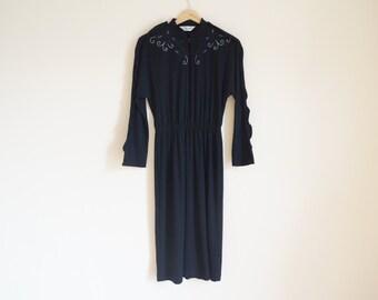 Vintage 1980s Black Dress