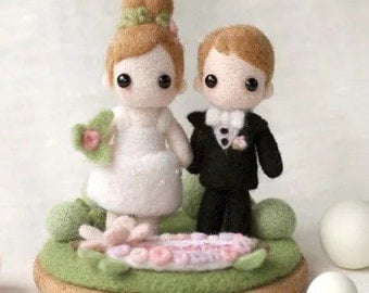 Wedding Dolls Set Needle Felting DIY Kit