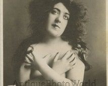 Lenore White beautiful nude actress antique hand signed autographed art photo