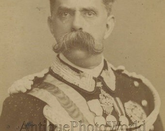 King Umberto I of Italy antique royalty photo