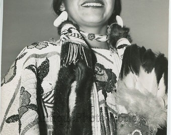 Indian Native American woman A. J. Wesley vintage photo