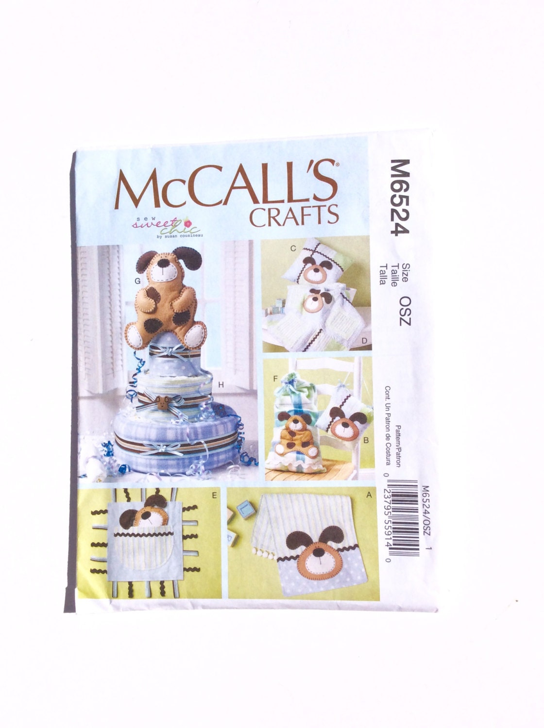 Etsy Australia Baby Gifts : Mccall s m diaper cake pattern burp cloth pillow
