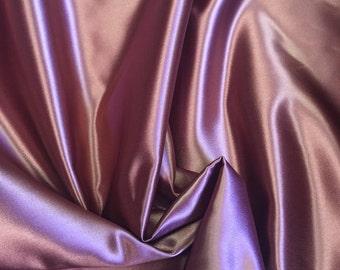 "Pale burgandy 45"" satin Fabric by yard"