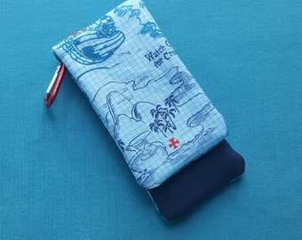 DCL - Disney Cruise - Nautical Map X Marks the Spot Wavekeeper™ - Wave Phone Holder - Images may include Jake and/or Captain Hook!