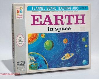 Flannel Board Teaching Aid Earth in Space Milton Bradley 1968