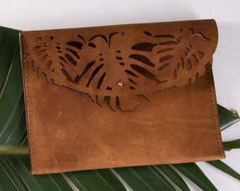 PARADISE Clutch / Handbag / Ipad Case (100% Leather)