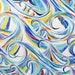 Wave Fabric - quilting cotton with watercolor wave design, choice of fat quarter or yardage, ocean fabric, beach fabric