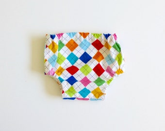 Argyle boys bloomer, boys diaper cover, boys nappy cover, 1st  birthday cake smash bloomers, first birthday diaper cover - made to order