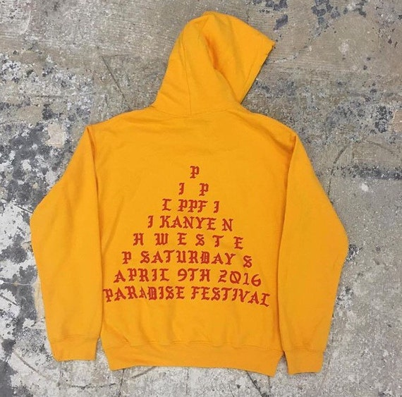 The life of pablo yellow gold hoodie kanye west by for Life of pablo merch