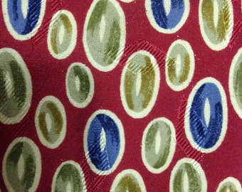 Vintage Gitman Bros. for Shaias Red Necktie with Multicolor Ovals