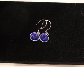 Swarovski Earrings in Sapphire