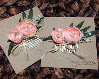 Leah Comb, Bridal Comb, Hair Comb, Photo Prop, Maternity, Floral Comb, Flower Comb, Pink Floral Comb, Pink, Maternity Comb, Flower Girl Comb