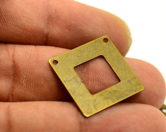 50 Pcs. Antique Brass 20x20 m Square Geometric Findings