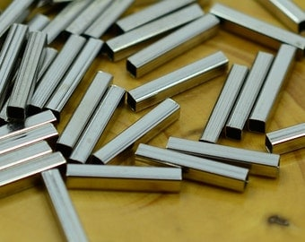 50 Pcs. Sişver Color 2x2x12 mm Square Tube Spacers