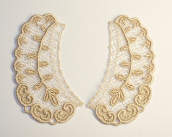 Lace Collar in ECRU for 18 inch dolls such as American Girl #CR03