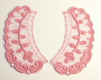 Lace Collar in PINK for 18 inch dolls such as American Girl #CR32