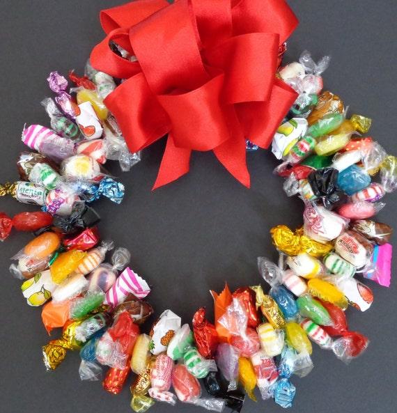 Mixed candy wreath gift edible centerpiece unique birthday