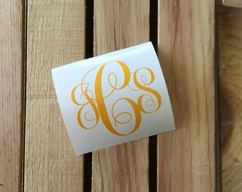 Monogram Vinyl Decal Sticker - Customize With Your Initials