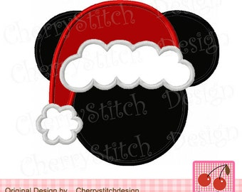 Christmas Santa Mouse,Mickey Mouse Embroidery Design,Mickey Applique Design - 4x4 5x5 6x6 inch-Machine Embroidery Applique Design