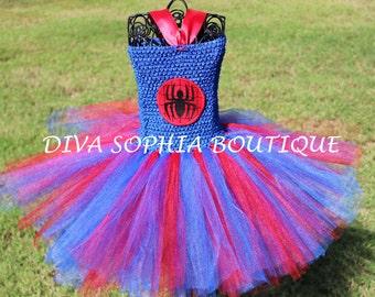 Spiderman Tutu Dress/ Spider girl Tutu Dress/ Costume