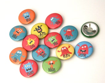 MONSTER buttons * your NAME *.