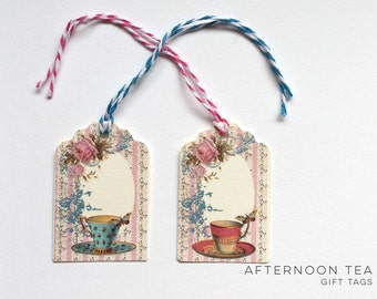 Afternoon Tea Gift Tags - Pack of 6