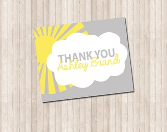 Sunshine Thank You Note