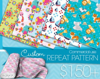 Custom Repeat Pattern, Prettygrafik fabric pattern Commercial use, pattern design custom Graphic Design, Exclusive commercial artwork