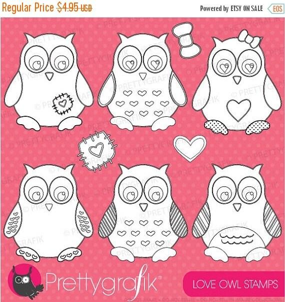 80% OFF SALE Owl digital stamp commercial use, vector graphics, digital stamp, digital images - DS402